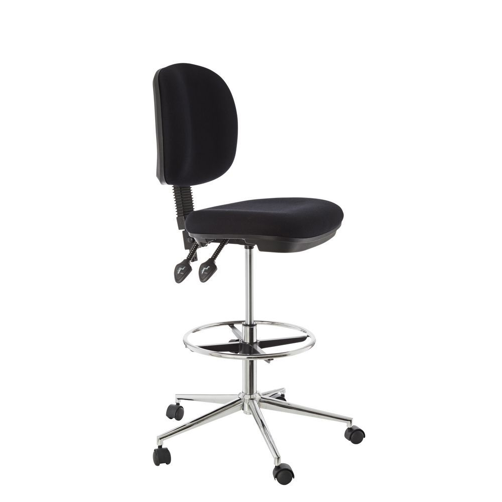 Deluxe Drafting Chair Black Officeworks Drafting Chair Chair Fabric Chair