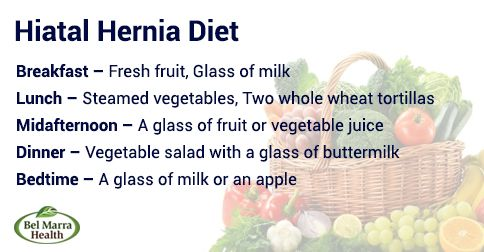 what is a good diet after hernia surgery