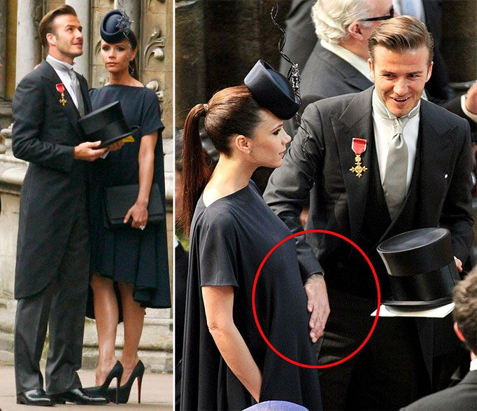 Victoria And David Beckham Arrive At Westminster Abbey Wedding Of William The Prince