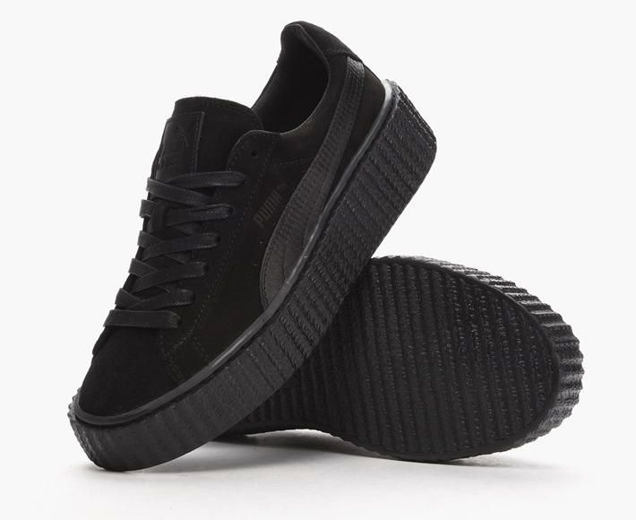 black puma shoes with strap