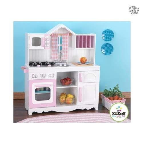 Cuisine enfant en bois campagnarde jeux jouets ain for Leboncoin cuisine