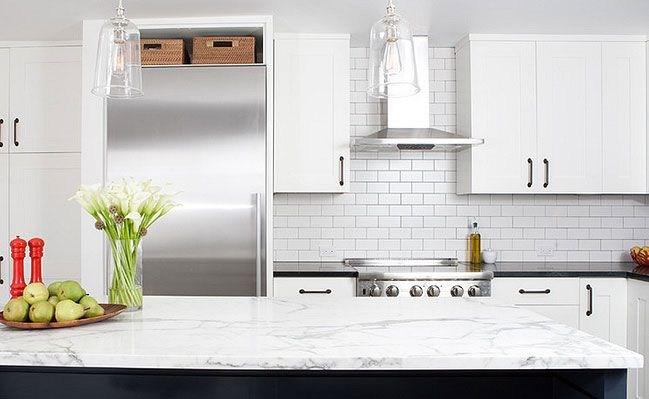 Kitchen Backsplash White white porcelain subway backsplash tile | kitchen ideas | pinterest