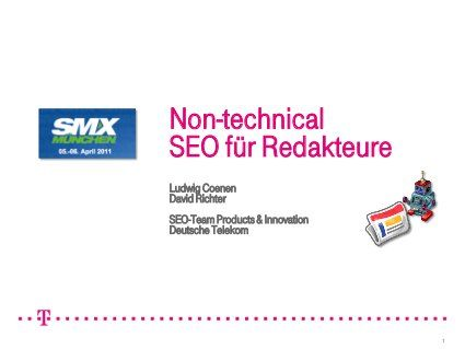Non-technical SEO für Redakteure - Teil 1 by Ludwig Coenen, via Slideshare, Time to Content 45 Min.