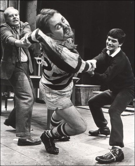 john lithgow in the changing room his broadway debut