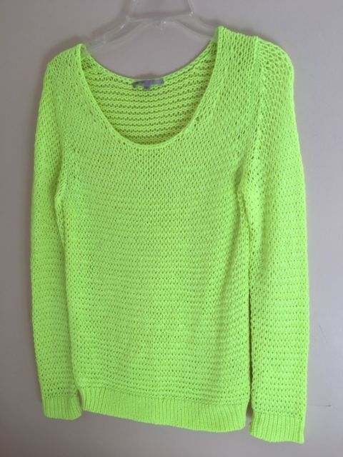 Gap Neon Green Knit Sweater Halloween Costume Fluorescent
