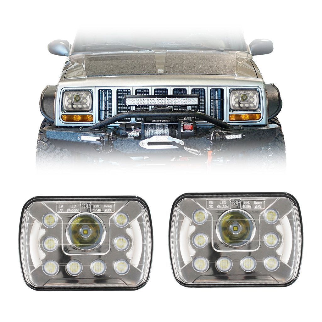 "7x6""/5x7"" inch dot led headlights with daytime running lights"