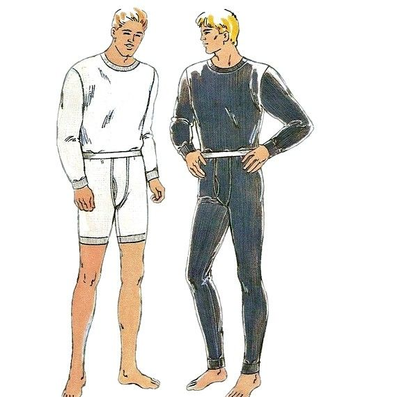 Kwik Sew 2389 Designer Mens Long Underwear Pattern sewing pattern by ...
