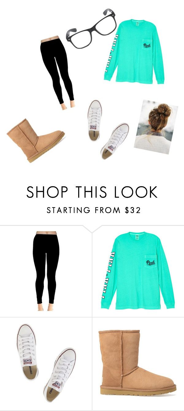 """Comfy"" by payton05 ❤ liked on Polyvore featuring Victoria's Secret, Converse and UGG Australia"