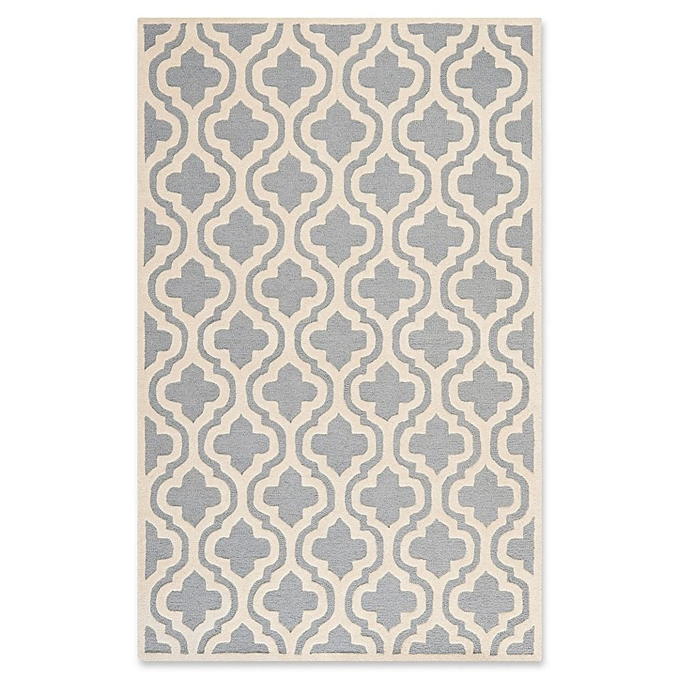 Safavieh Cambridge 5 X 8 Becca Wool Rug In Silver Ivory Wool
