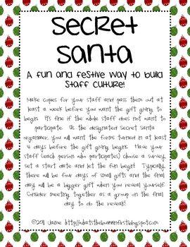 Task For Secret Santa Game : secret, santa, Secret, Santa, Festive, Staff, Activity}, Form,, Classroom,, Funny, Gifts