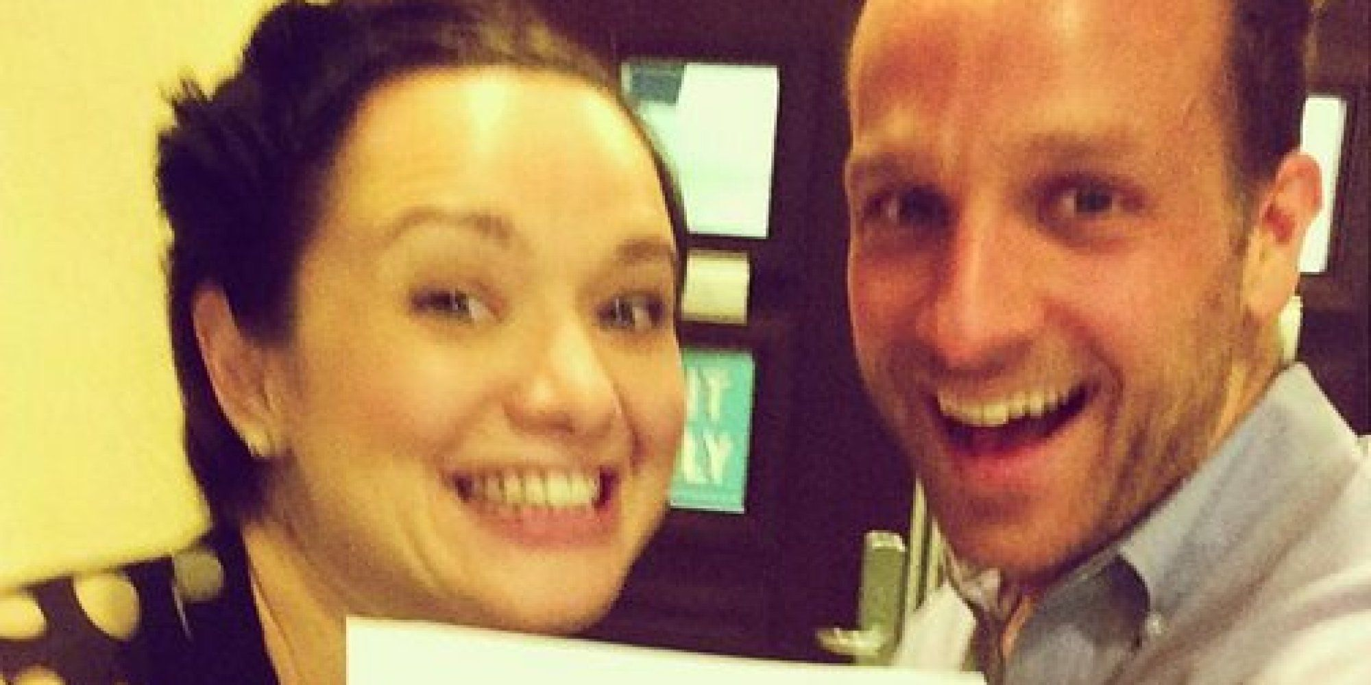 A happy divorce selfie?  If only all divorcing couples could be this happy...