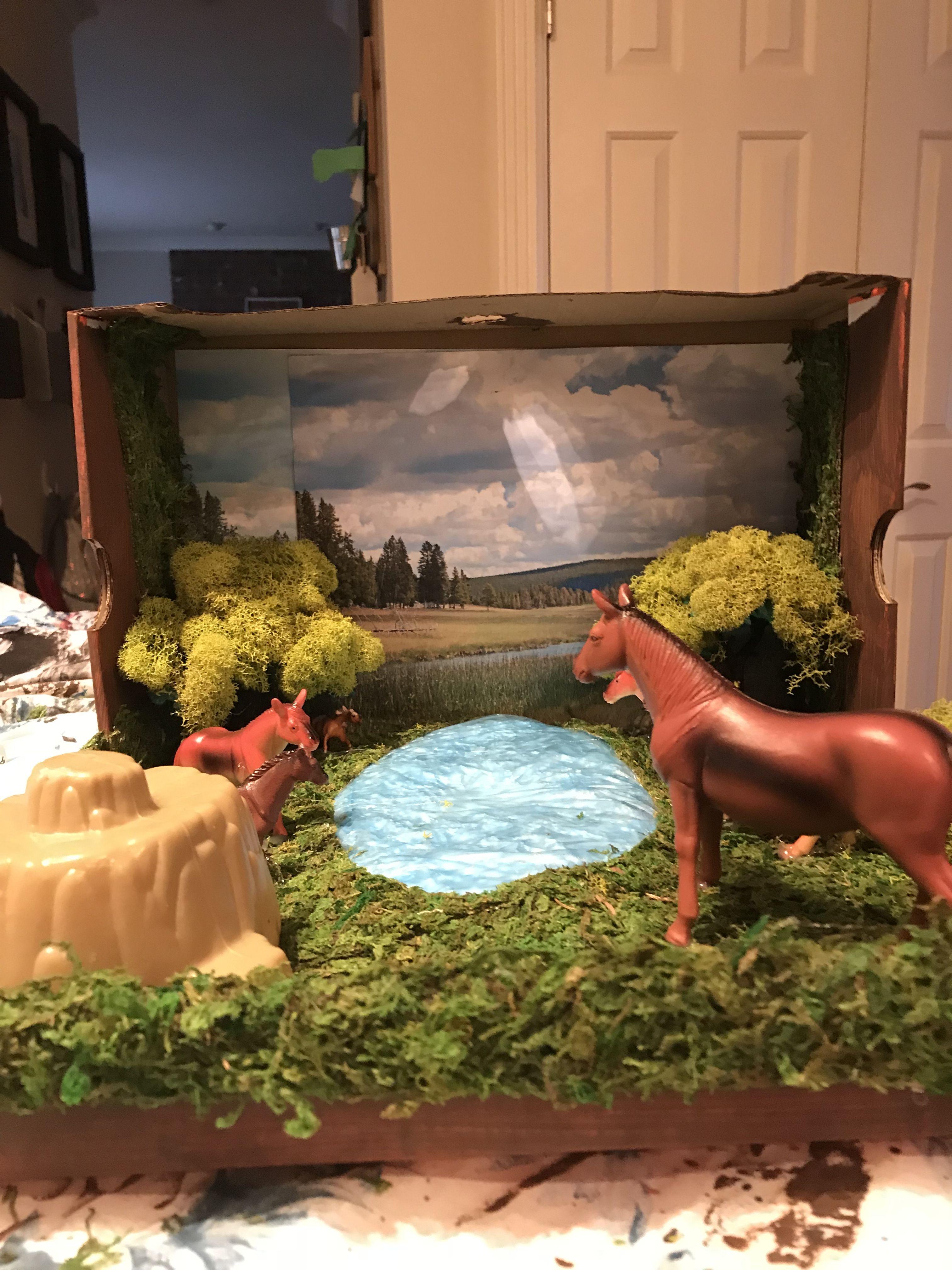 Horses Habitat Diorama
