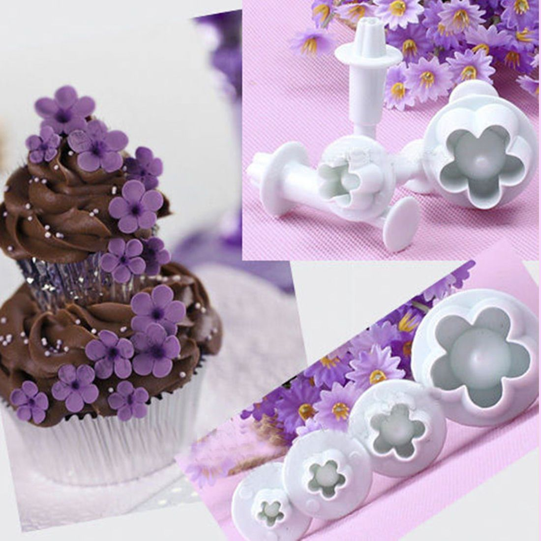 Fondant Cake Cutter Biscuit Mold Cookie Sugarcraft Plunger Mould Decorating Tool
