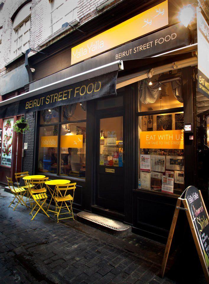 Yalla Yalla Soho London Middle Eastern London Lunch Streetfood Coffee Shop Design Soho London London Restaurants