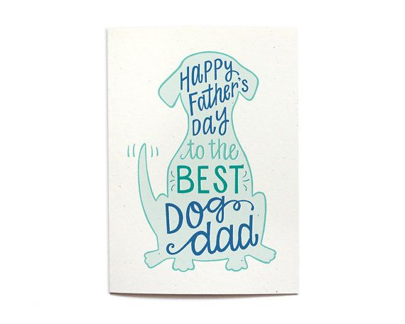 Happy Father's Day Card From the Dog Best Dog by HennelPaperCo