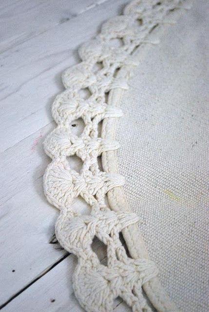 Crochet edging puntillas y remates ganchillo pinterest for Remates a ganchillo