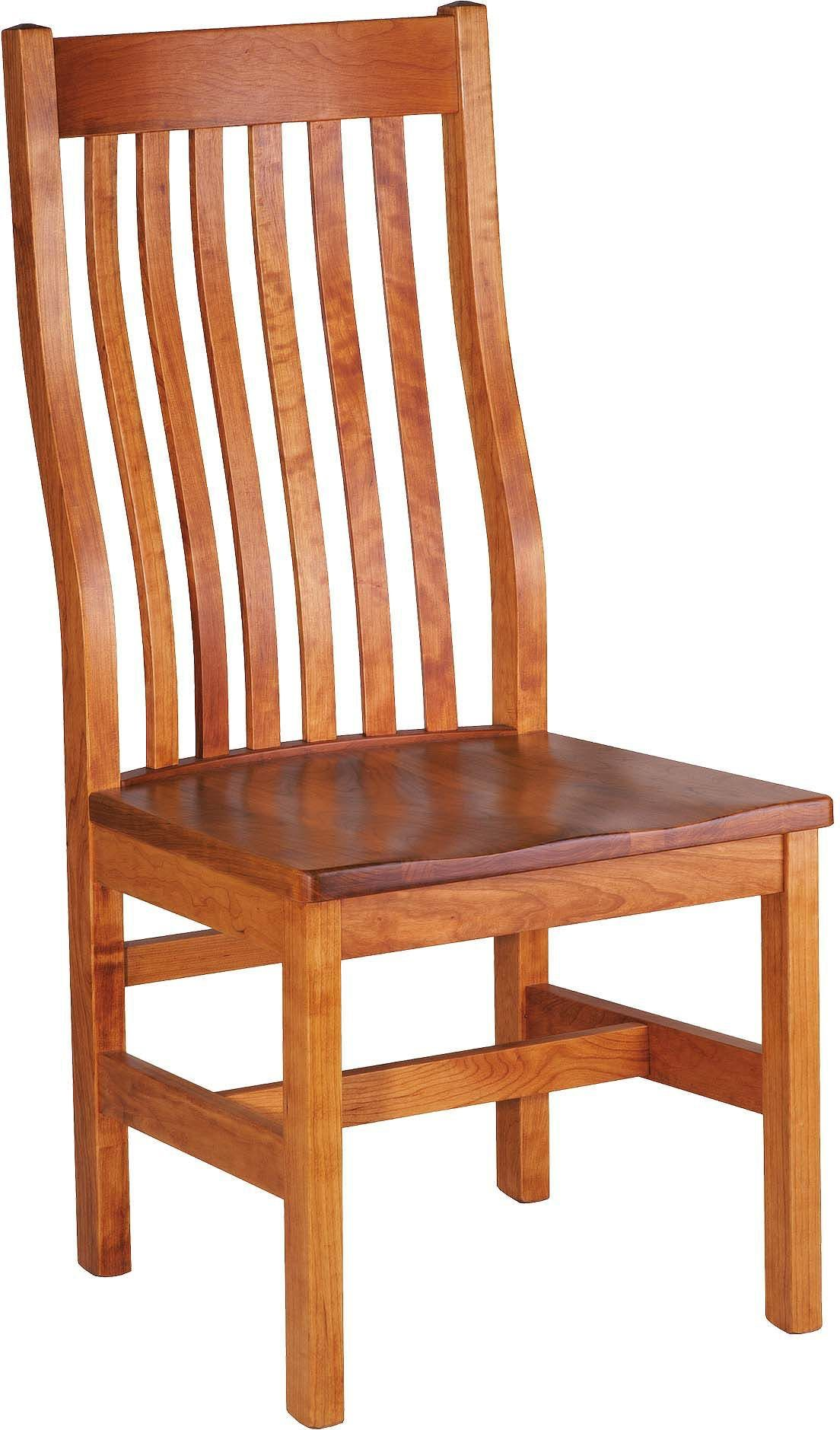 Marshall 81278 Side Chair Wood Seat Vienna Finish By Gat Creek