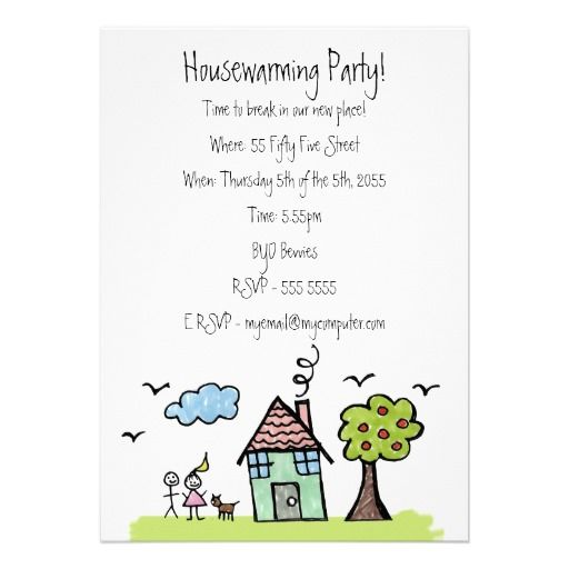 House Warming Moving Party Invite Invitation change wording - housewarming invitation template