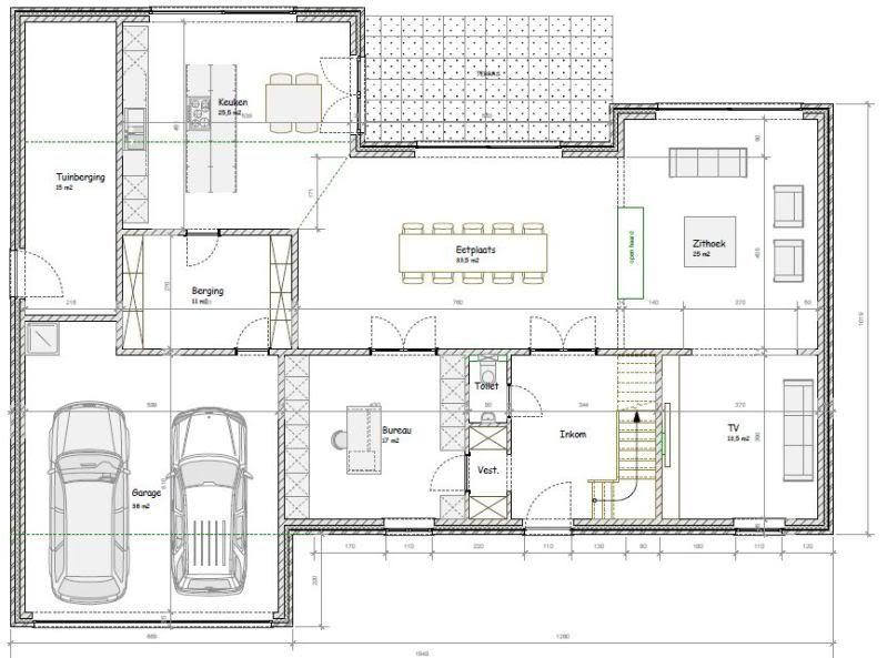 Plattegrond moderne woning google zoeken plattegrond for Grondplannen woningen