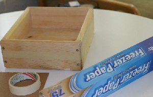 Step by step instructions for lining a wooden soap mold