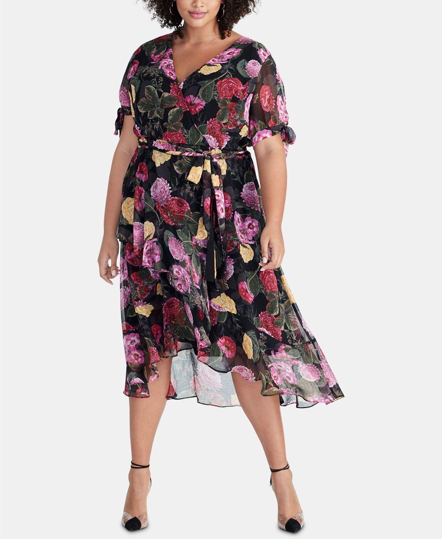 bc9062d3e8 Floral Chiffon Dress, Print Chiffon, Rachel Rachel, Print Wrap, Wrap Dress,