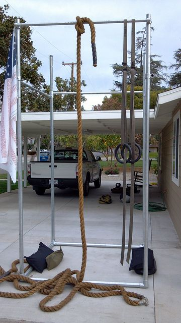 A Customer Built This Pull Up And Workout Station Using