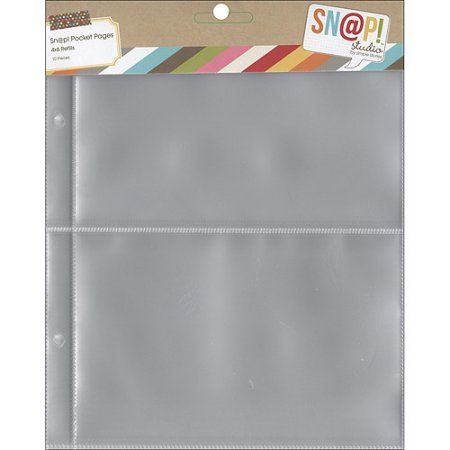 Sn@p! Pocket Pages For 6 inch x 8 inch Binders 10pk, (2) 4 inch x 6