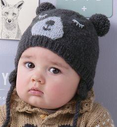 Modèle bonnet ourson Layette