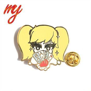 Plating Golden Metal Enamel Pin Cute Lapel Pins | Just Pins