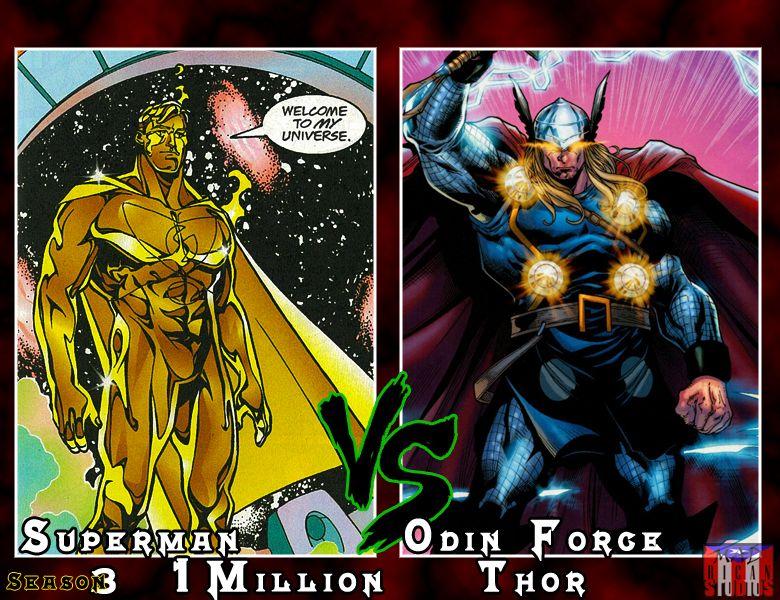 Superman 1 Million Vs Odin Force Thor Vs Season 3 Superman 1