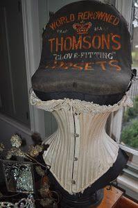 thomson's corset display mannequin  vintage dress form