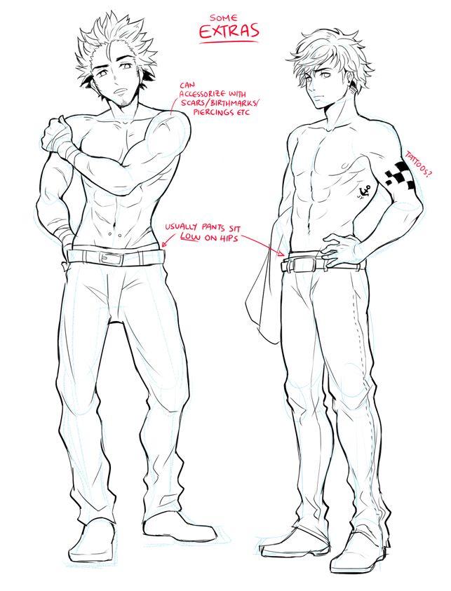 How To Draw Male Characters By Circus Usagi Wma Manga Tutorial