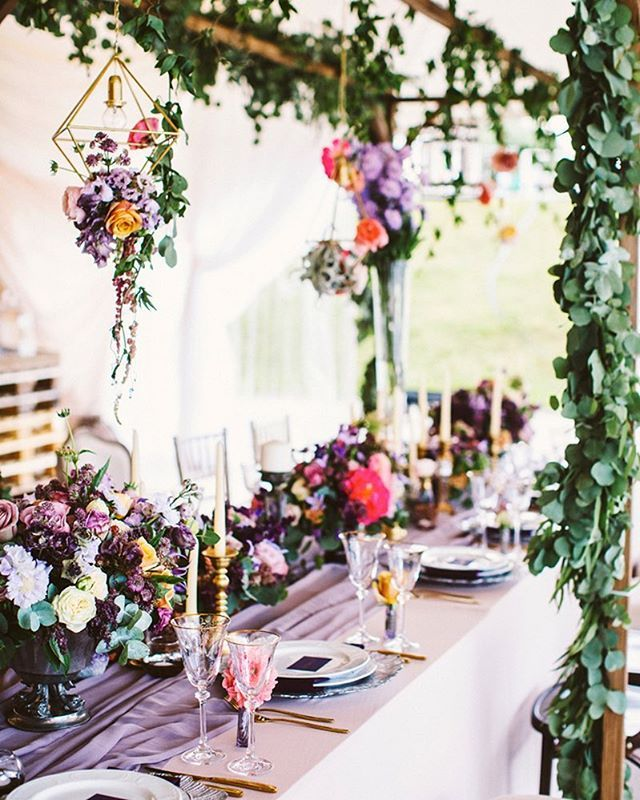 Bohemian Wedding Reception: This Boho Chic Tablescape Combines All Of Our Favorite