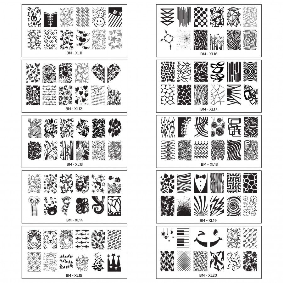 Bundle Monster Extra Large Full Nail Art Retangular Shape XL St&ing Plates Set 2 1120 * Check this awesome product by going to the link at the image.  sc 1 st  Pinterest & Bundle Monster New Nail Stamping Plates | Nail Polish Supplies ...