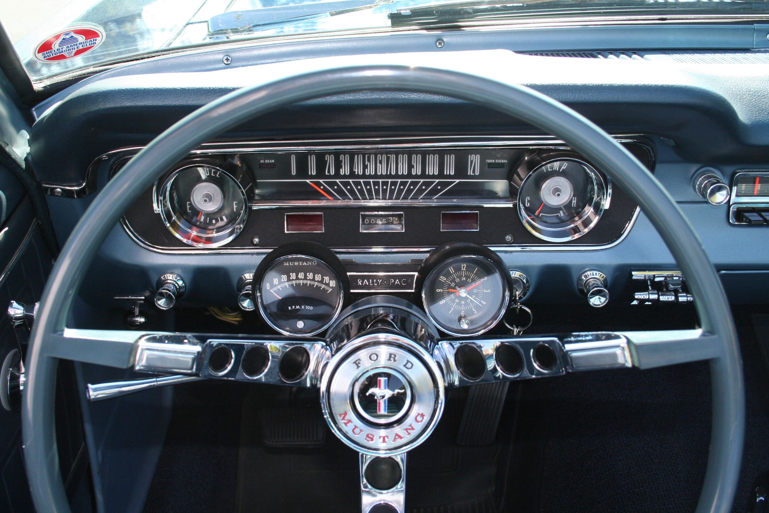 Image result for 65 mustang instrument cluster