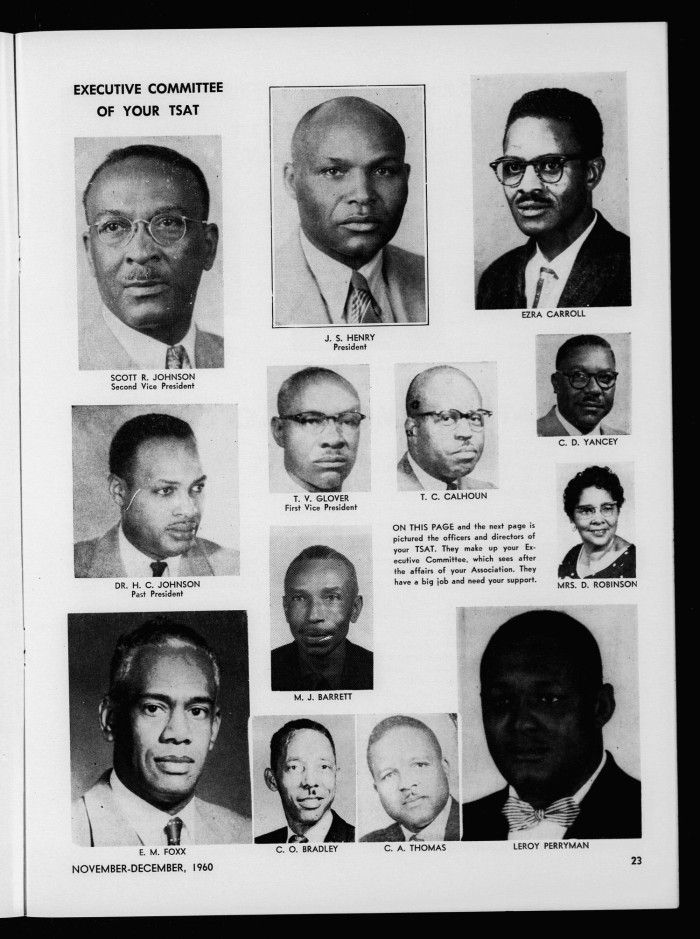 Dr. H. C. Johnson was the 71th President of the Colored Teachers State Association of Texas