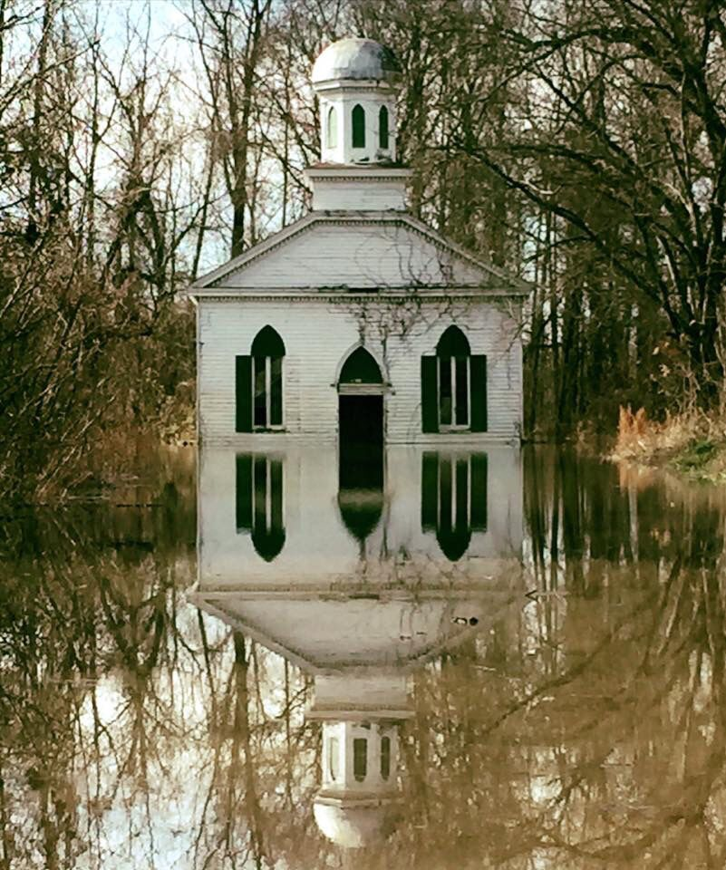 This Is An Abandoned Church In Rodney, Mississippi