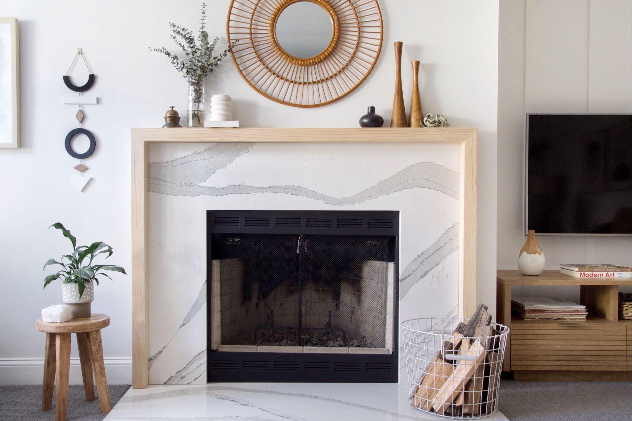 20+ Quartz fireplace ideas   LivingRoomReference