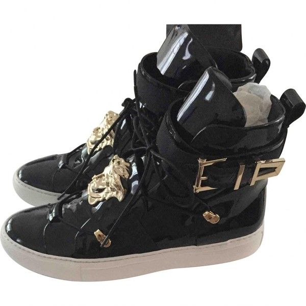 Pre-owned - Leather high trainers Versace Mo6mQQz