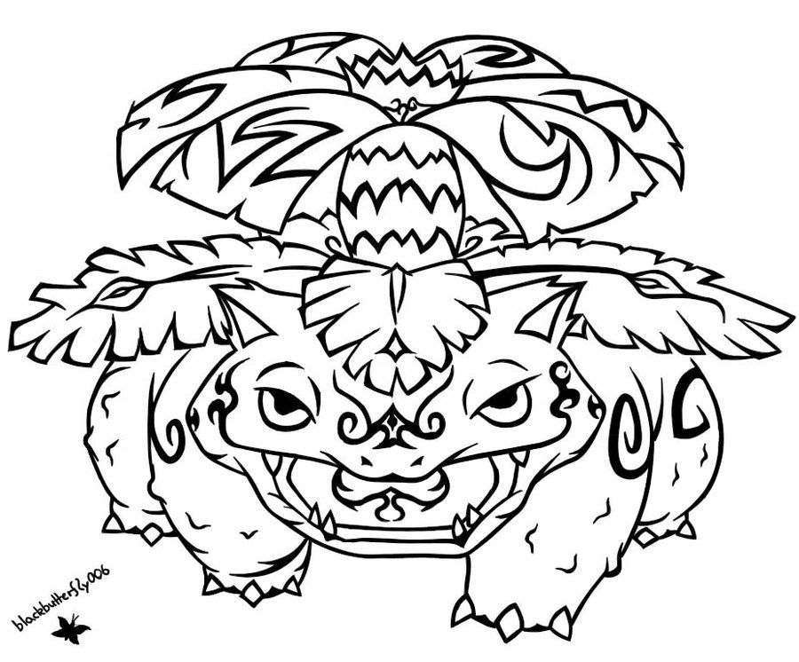 003 Tribal Venusaur By Blackbutterfly006 On Deviantart Pokemon