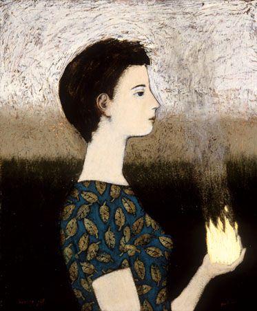 Burning Gift  ::  Brian Kershisnik