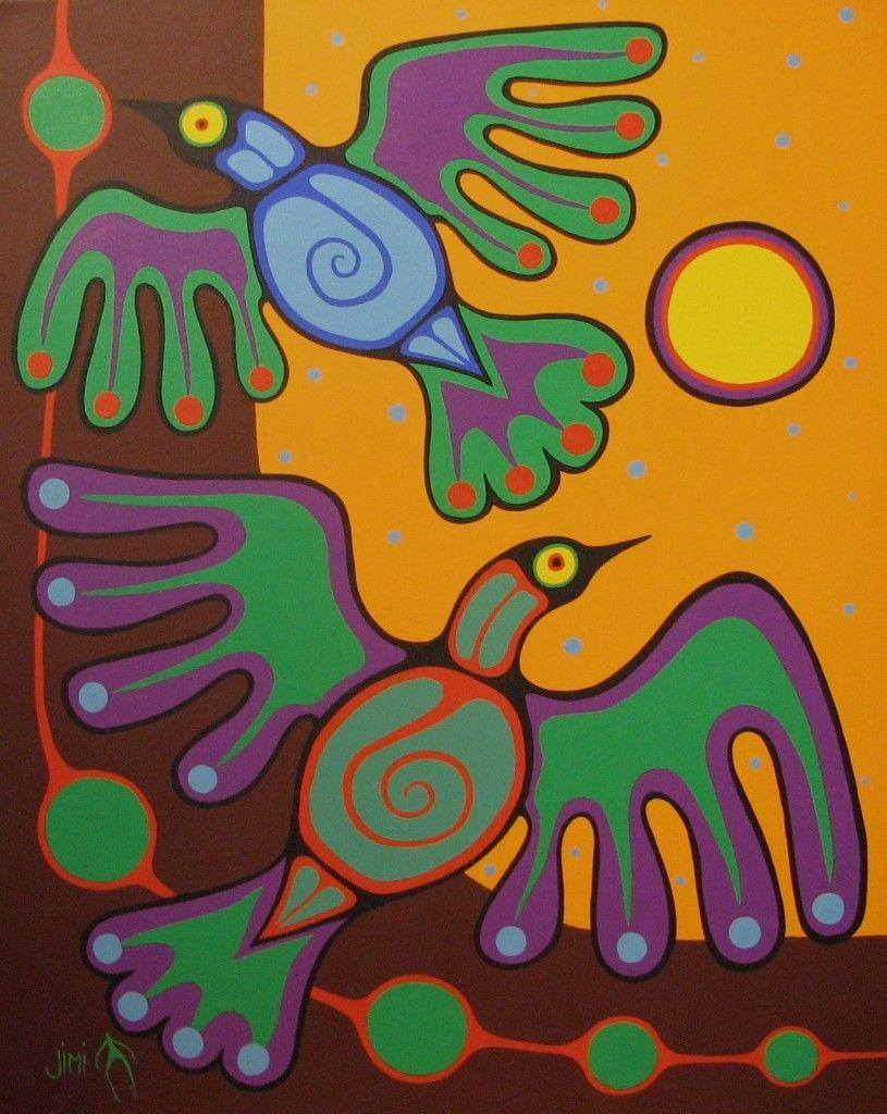 "*Jim Oskingeegish ""Birds in Flight"" JO1403 | Wah-Sa Gallery"