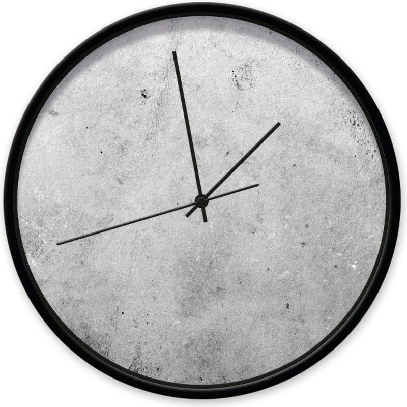 Clock Concrete 002 Black Black Clock Tough Clock With A Concrete Look On The Dial Made Of Plastic Glass Color Options In 2020 Clock Wall Clock Black Clocks