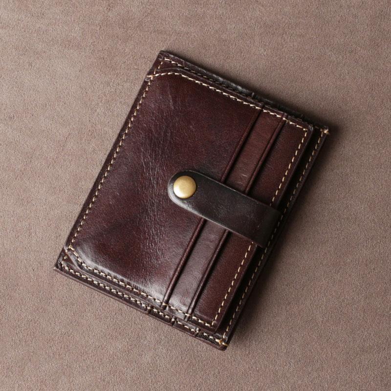Genuine leather mens cool slim front pocket wallet leather
