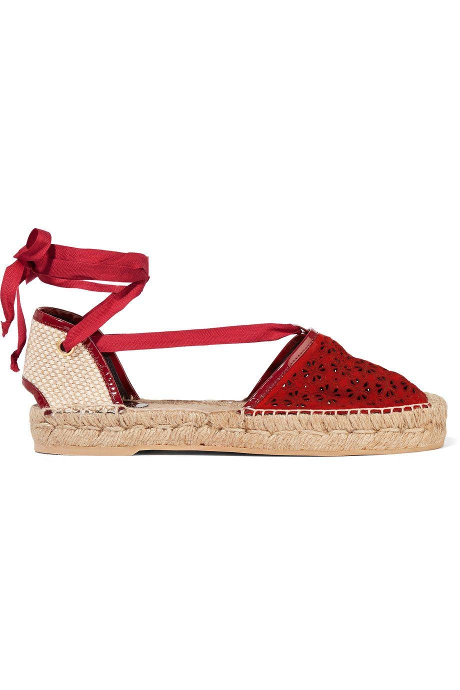 0e6c36a95 OSCAR DE LA RENTA Adriana Laser-Cut Suede Espadrilles. #oscardelarenta  #shoes #flats
