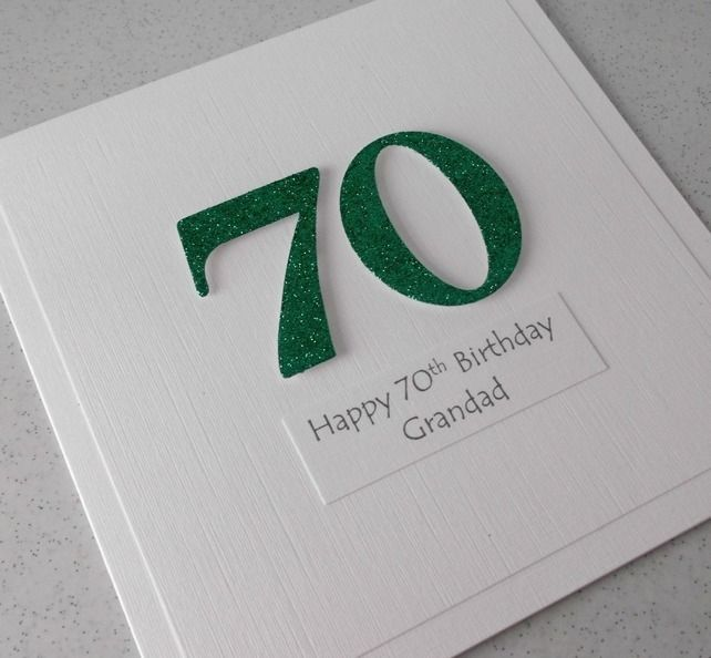 70th Birthday Card Personalised Message Grandad 350 Cards