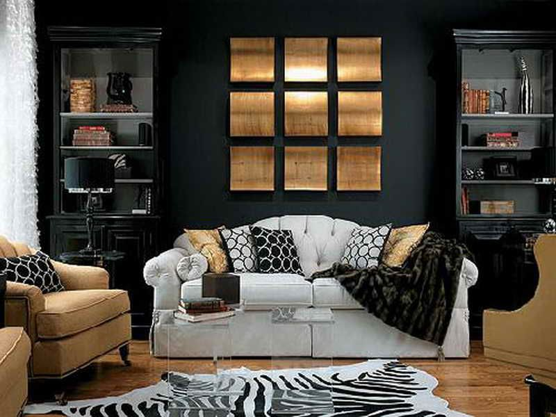Black White And Caramel Living Room Idee Deco Interieur Deco