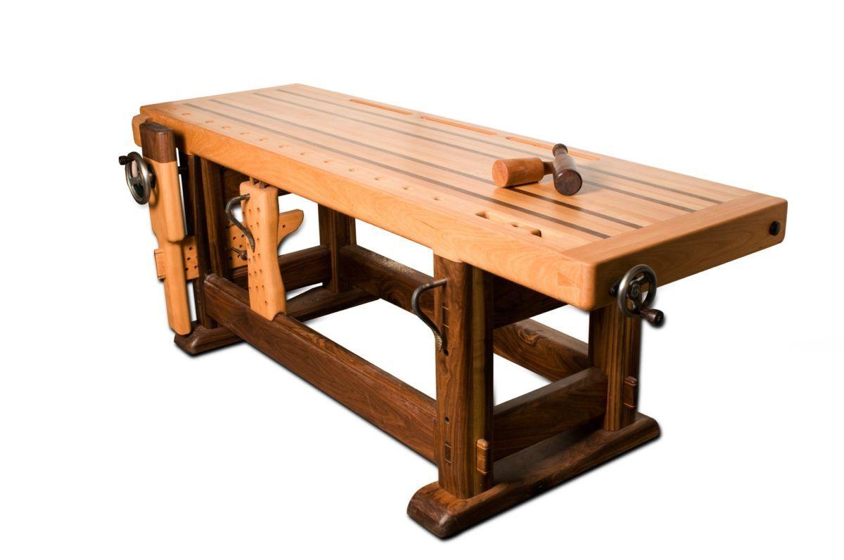 built of walnut and european beech my roubo style workbench