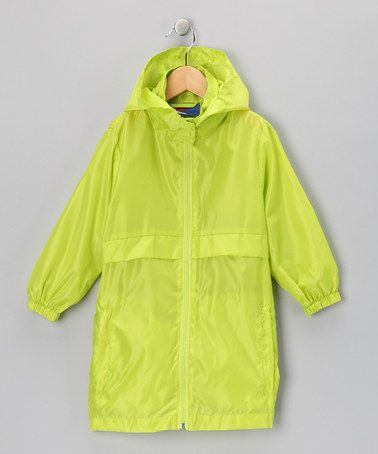 Take a look at this Lime Green Packable Raincoat by totes on #zulily today!