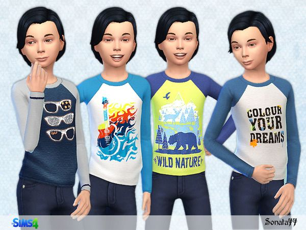 The Sims Resource: S77 boy 15 t-shirt by Sonata77 • Sims 4